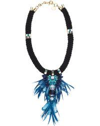 Matthew Williamson Azure Tribal Jewel Necklace - Lyst