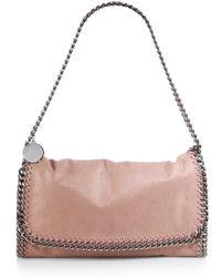 Stella McCartney Falabella Faux-Leather Fold-Over Shoulder Bag - Lyst