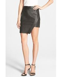 Pam & Gela - Asymmetrical Leather Skirt - Lyst
