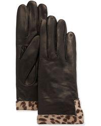 Portolano Leather Calf Hair Glove brown - Lyst