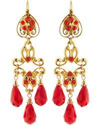 Jose & Maria Barrera | Golden Dangle Earrings | Lyst
