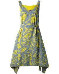 Vivienne Westwood Anglomania Belted Print Dress - Lyst