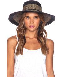 Seafolly - Shady Lady Royale Floppy Hat - Lyst