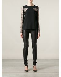 Philosophy di Alberta Ferretti Lace Detail Top - Lyst