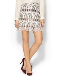 Cynthia Rowley Jacquard Mini Skirt - Lyst