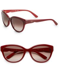 Valentino 57mm Cats Eye Sunglasses - Lyst