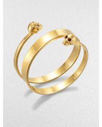 Alexander McQueen New Twin Wrap Cuff Bracelet - Lyst