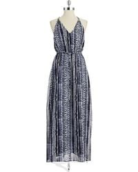 Ivanka Trump Patterned Maxi Dress - Lyst