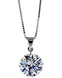 Carat* | Round 4 Prongs 1ct Solitaire Pendant Necklace | Lyst
