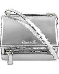 Givenchy Pandora Box Mirrored Leather Bag Silver - Lyst