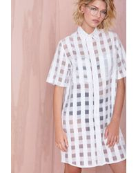 Nasty Gal Motel Bobtail Shirt Dress - Lyst