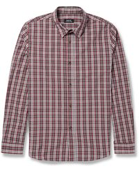 A.P.C. Check Cotton Shirt - Lyst
