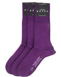 Falke Airport 3-Pack Plum Socks - Lyst