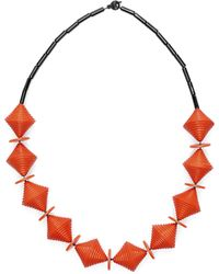 Scenery Label - Bead Necklace Bicone - Lyst