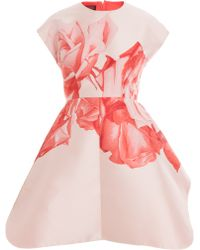 Giambattista Valli Rose Print Dress - Lyst