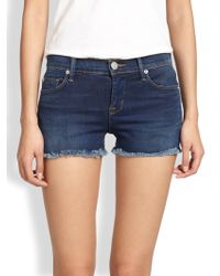 Hudson Amber Cutoff Denim Shorts - Lyst