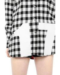 N.e.p.a.l. Downtown - Printed Checked Shirt - Lyst