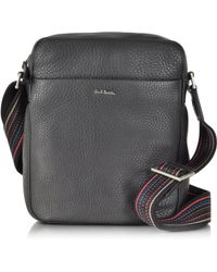 Paul Smith - Black Leather Small Crossbody Bag - Lyst