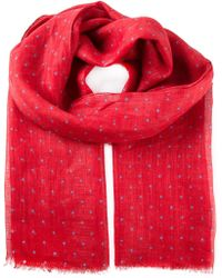 Kiton Dotted Scarf - Lyst