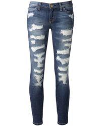 Current/Elliott Distressed Jeans - Lyst