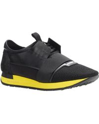 Balenciaga Black Race Sneakers - Lyst