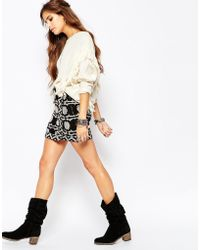 Free People - Wrapped In You Skirt In Aztec Print - Raven Multi - Lyst