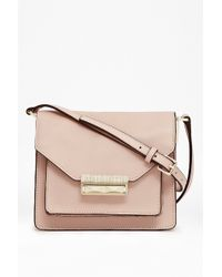 French Connection Dayna Leather Crossbody Bag - Lyst