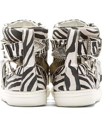 Toga Pulla - Black And White Zebra High_Top Sneakers - Lyst