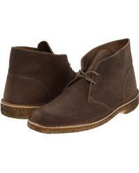 Clarks Brown Desert Boot - Lyst