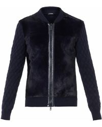 Jil Sander Kangaroo Fur and Leather Cardigan - Lyst