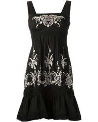 Alice By Temperley Mini Myra Dress black - Lyst