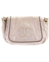 Chanel   Pre-owned: Lux Ligne Metallic Flap Bag   Lyst