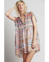 Free People Empire Extreme Shirtdress - Lyst