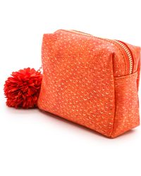 Deux Lux Cotton Candy Cosmetic Case  Coral - Lyst
