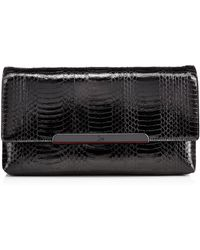 Christian Louboutin Rougissime Snakeskin Clutch Bag Black - Lyst