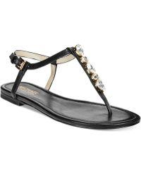 Michael Kors Michael Jayden Jeweled Flat Thong Sandals - Lyst