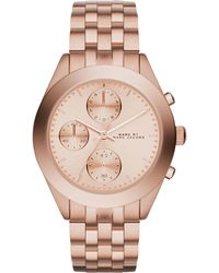 Marc By Marc Jacobs Women'S Chronograph Peeker Rose Gold-Tone Stainless Steel Bracelet Watch 36Mm Mbm3394 - Lyst