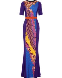 Peter Pilotto Atmos Printed Cady Gown - Lyst