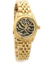 Michael Kors Midnight Safari Petite Lexington Watch  Gold - Lyst