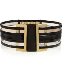 Balmain Patent-Leather And Pvc Waist Belt - Lyst
