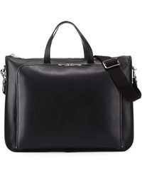 Loewe - Textured Leather Wide Briefcase - Lyst