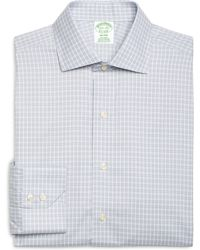 Brooks Brothers Non-Iron Milano Fit Alternating Frame Check Dress Shirt - Lyst