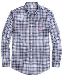 Brooks Brothers Non-Iron Madison Fit Check Sport Shirt - Lyst