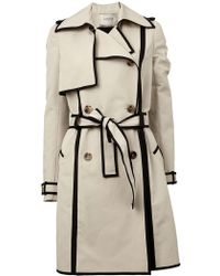 Lanvin | Double Breasted Trench Coat | Lyst