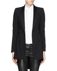 Alice + Olivia Leo Pleat and Flare Hem Blazer - Lyst