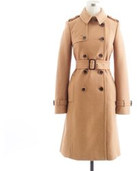 J.Crew Icon Trench Coat In Wool-Cashmere - Lyst