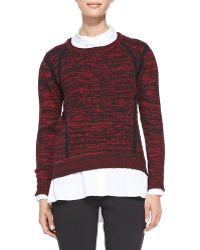 T Tahari Laney Crewneck Melange Sweater - Lyst
