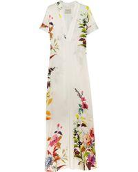 Mason by Michelle Mason Floral-Print Crepe De Chine Maxi Dress - Lyst