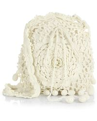 Ralph Lauren Collection Crocheted Cotton Crossbody Bag - Lyst