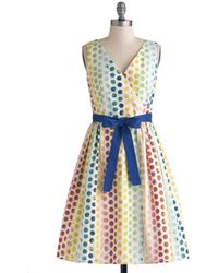 ModCloth In The Key Of Chic Dress In Polka Dots multicolor - Lyst